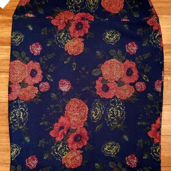 LuLaRoe Dresses & Skirts - Lularoe NwT Skirt Orange Print Straight XL